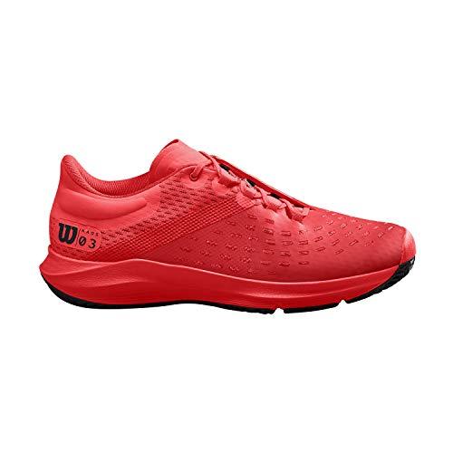 Wilson Kaos 3.0 Clay, WRS326560E090, Scarpe da Tennis, per Tutte Le Superfici e Tutti i Tipi di Giocatori Uomo, Rosso/Nero, 43 1/3 EU