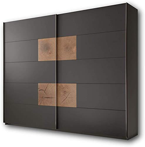 Hochwertige Schränke, Spinde Wildeiche Schlafzimmer Look perfekt für das Schlafzimmer,Black