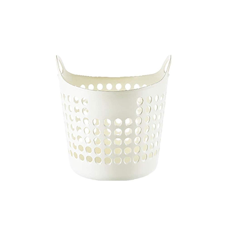 積極的にレトルトナース家庭用大型プラスチック製ダンパー、衣服用バケツ/汚れた衣服/ランドリー収納バスケット/仕上げボックス、バスルームに適して (Color : White, Size : 37X37X40cm)