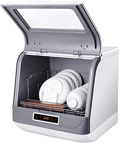 Geschirrspüler Vollautomatischer Haushalt Small Desktop Geschirrspüler Keine Installation eines Stand-Alone-Geschirrspülers 3 Smart-Reinigungsprogramme (Farbe: Weiß, Größe: 45,5 * 40 * 45cm)