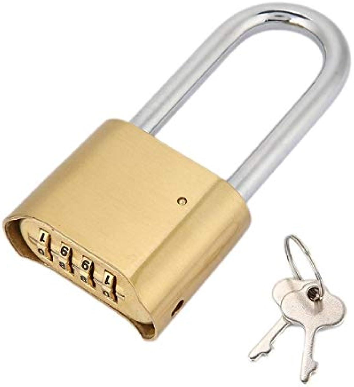 Brass 4 Digit Combination Padlock Password Lock for Door Case Warehouse Cupboard High Quality  (color  Red)