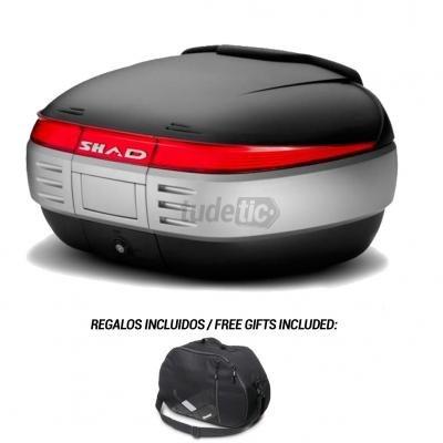 SHAD - Baul trasero maleta moto SH50 + BOLSA REGALO