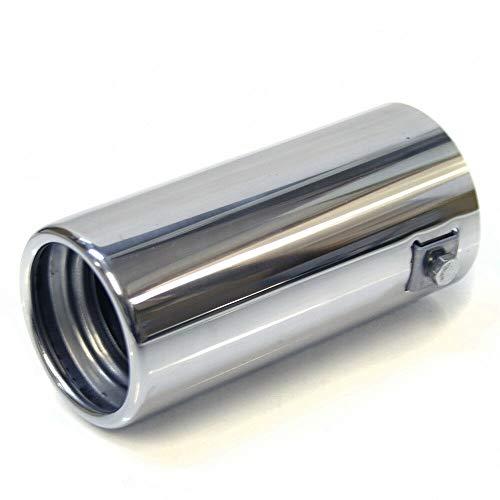 Auspuffblende Auspuff Universell Schalldampf Endrohr Endrohrblenden Blende Sport Edelstahl bis 57mm Chrom AutoHobby