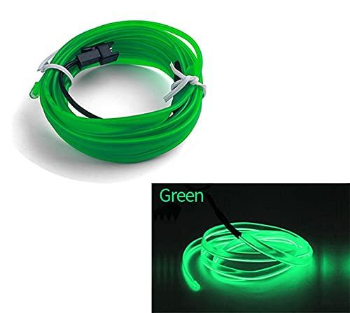YMXDXTY 1M / 2M / 3M / 5M Lámpara Decorativa del Interior del Interior del Coche EL Tira de neón de cableado para Auto Bricolaje Luz Ambiental Flexible USB Diodo de la atmósfera de Fiesta