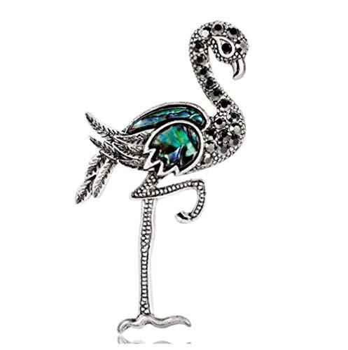 Nonebranded Broche Broches De Plata Antigua Alfiler De Flamenco Animal Broche De Avestruz De Metal Broche De Traje De Mujer Accesorios