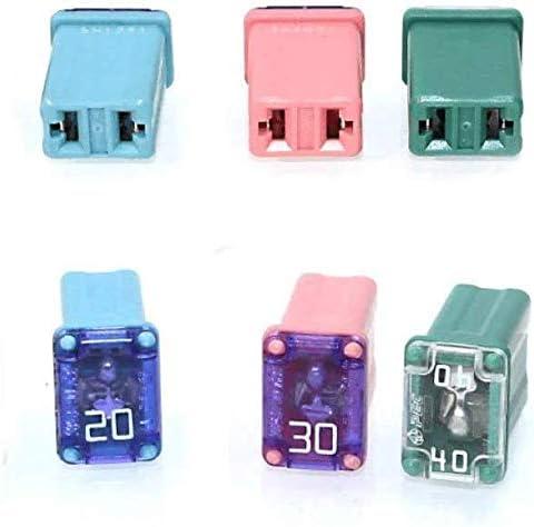 and SUVs 20 pcs Automotive MCASE Mini Box Shaped Cartridge Fuse Kit for Cars Trucks