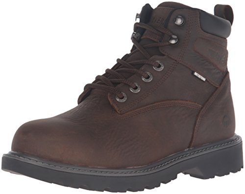 Wolverine Men's Floorhand 6 Inch Waterproof Steel Toe-M Work Boot, Dark Brown, 10 M US