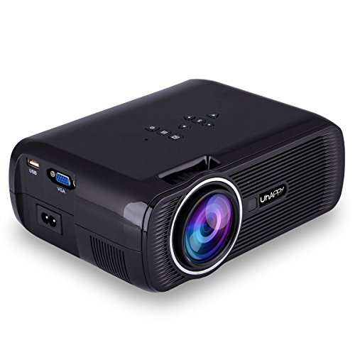 Uhappy U80 Portable Home Theater 1080P LED HD Mini Digital Projector, Support HDMI, VGA, USB