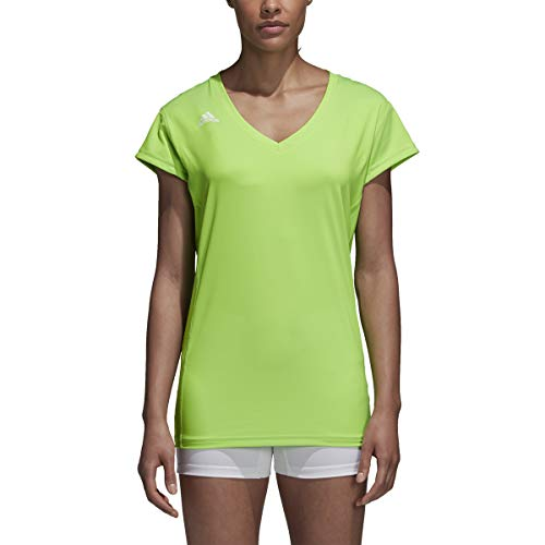 adidas Damen Volleyball Hi-Lo Cap Sleeve Jersey M Solargrün