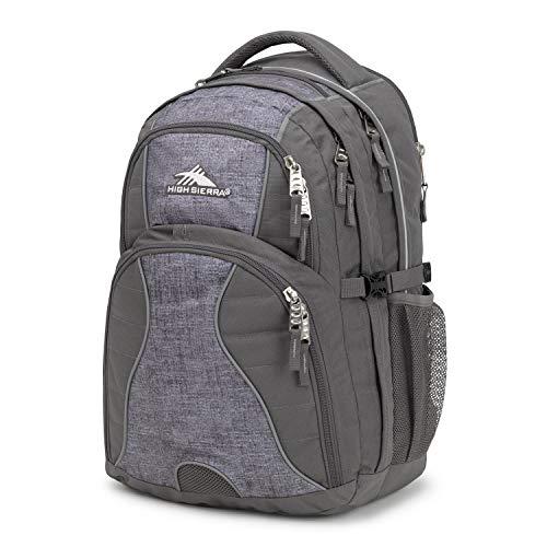 High Sierra Swerve Laptop Backpack, 19 x 13 x 7.75-Inch, Slate/Woolly Weave