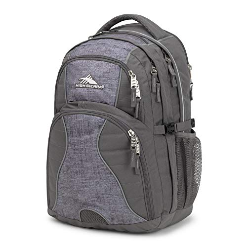 High Sierra Swerve Laptop Backpack, Slate/Woolly Weave, 19 x 13 x 7.75-Inch
