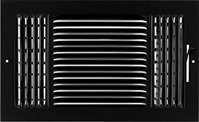 """14""""w X 8""""h 3-Way AIR Supply Grille - Vent Cover & DIFUSER - Flat Stamped Face -"""