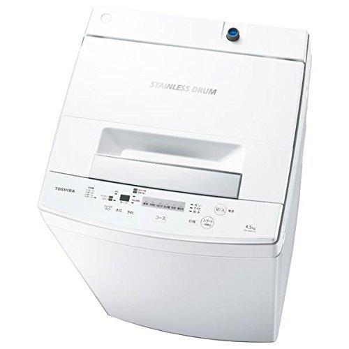 東芝 全自動洗濯機 4.5kg ピュアホワイト AW-45M5 W