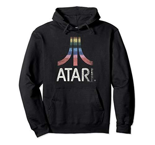 Atari Vintage Rainbow Pullover Hoodie, Unisex, S to 2XL