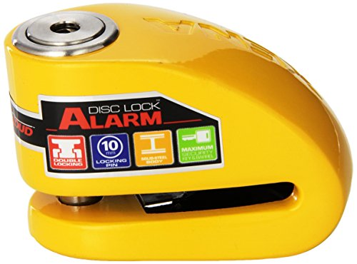 Xena (XX10-Y Disc-Lock Alarm for Motorcycle, Yellow, Steel