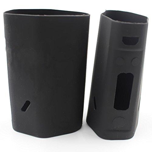 Wismec Reuleaux RX200 200 200 W Schutzhülle aus Silikon, perfekte Passform, glatt, Fixierung und Ziehen, in 9 Farben erhältlich Schwarz