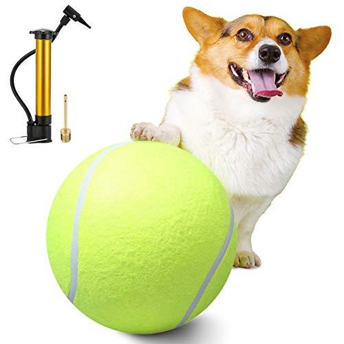 AEITPET Palla per Cani Gigante Tennis Ball Cane Dog Cane mastica Il Pallone da Tennis Gigante della mastica Giocattolo Pet Giocattoli per Cane da Masticare Giocattolo Palla per Cane
