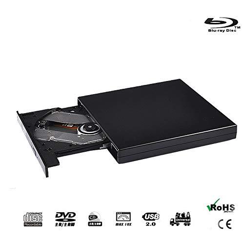 Externe 4K Blu-ray optische drive, Blu-ray 3D 2.0 USB-speler BD-RE-branderrecorder DVD +/- RW/RAM-stations voor pc Windows 7/8/10