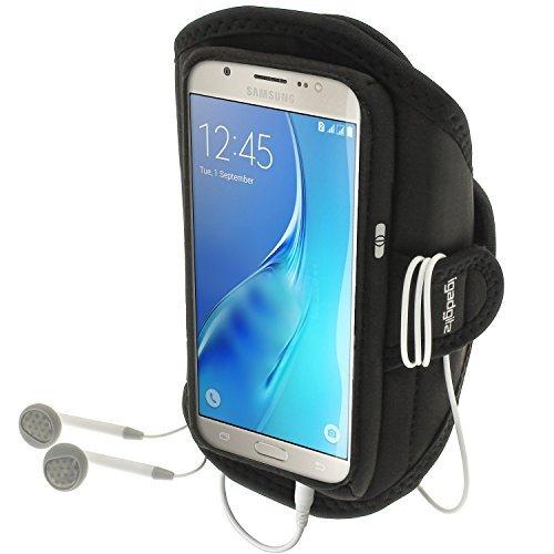 iGadgitz U5011 Funda Compatible con teléfono móvil Brazalete Caso Negro -(Brazalete Caso, Samsung, Galaxy J5 J510 (2016), Negro)