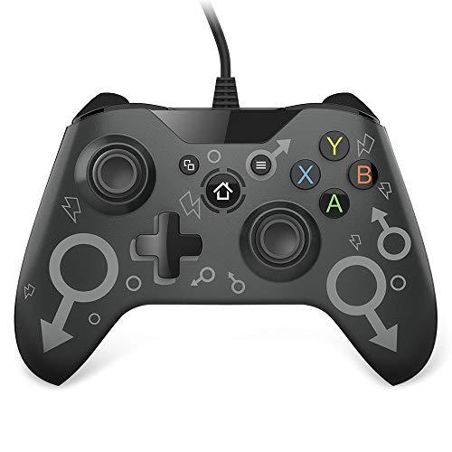 Controller Xbox One Cablato, VINSIC Controller Xbox Design Ergonomico Joystick per PC Doppia Vibrazione