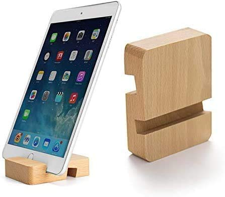 MYLB Soporte de Madera para teléfono,Portátil Soporte para teléfono Universal Cuna de Escritorio para teléfono Celular para Tabletas, iPad, Smartphone