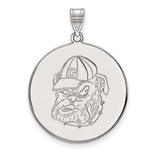 Charm Pendant White Sterling Silver Georgia NCAA University Of 32 mm 25