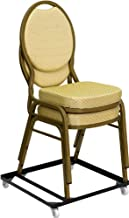 Flash Furniture HERCULES Series Steel Stack Chair and Church Chair Dolly, 1 Pack