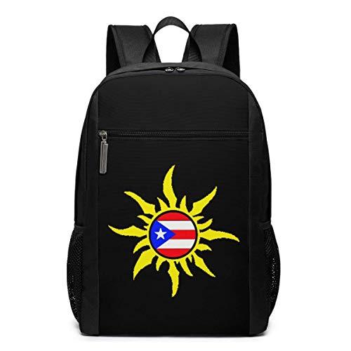ZYWL Puerto Rico Laptop Rucksack, Reiserucksäcke School College Bookbag für Frauen und Männer 17 Zoll