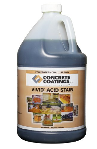 VIVID Acid Stain - 1 Gal - Mission Brown (Rich, Medium Rusty Brown)