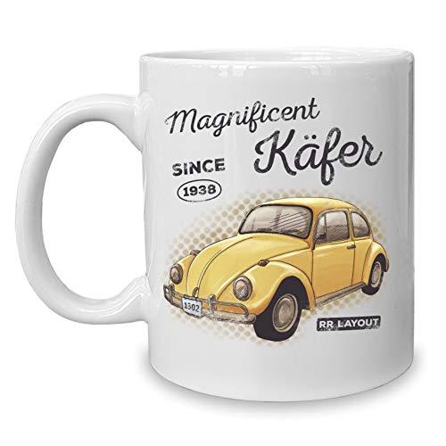 Shirtdepartment - Kaffeebecher - Tasse - Oldtimer Motive (Magnificent Käfer)