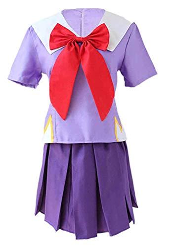 Haocoyee The Future Diary Gasai Yuno Mirai Nikki Top&Skirt Cosplay Costume School Uniform Set for Girls (L)