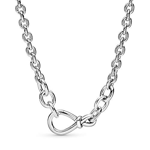Pandora kräftige Unendlichkeitsknoten Gliederkette Sterling-Silber, 6mm x 26,8mm x 14mm, 398902C00-50