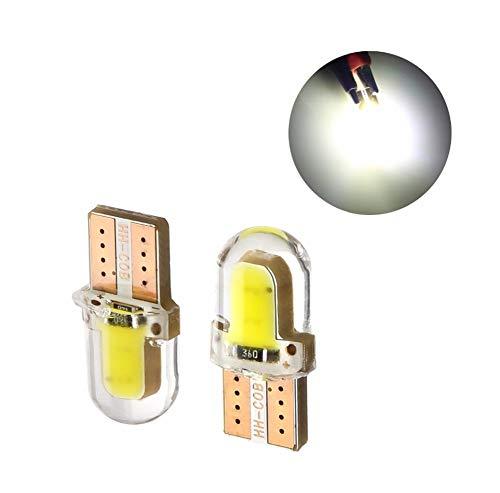 DAXINYANG Colorful Linght 10pcs LED W5W T10 194 168 W5W COB 8SMD Led Bombilla estacionamiento automático cuña obtención del Certificado de la lámpara de sílice Blanco Brillante Bombillas