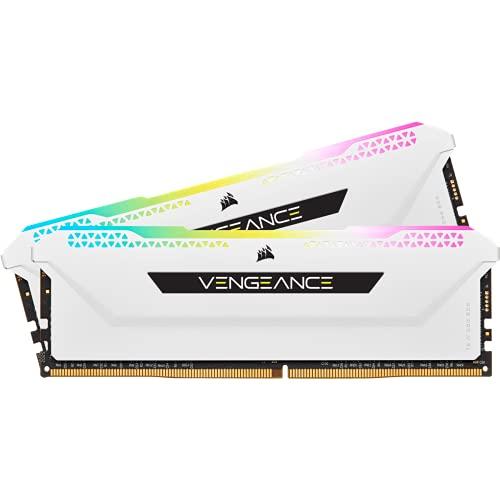 Corsair VENGEANCE RGB PRO SL 16GB (2x8GB) DDR4 3200 (PC4-25600) C16 1.35V Desktop Memory - Weiß