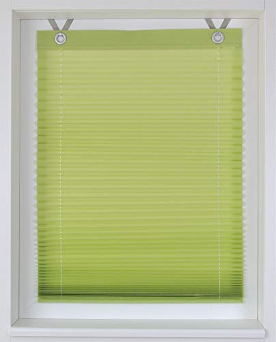 Rollos & More Raffrollo/Ösenrollo/Plissee Olbia grün Marc Öse ca. 40 * 125 cm