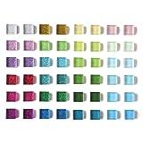 Paquete de 48 imanes de vidrio para nevera para nevera con imanes bonitos con purpurina, de colores decorativos para taquillas de oficina, para pizarrón blanca