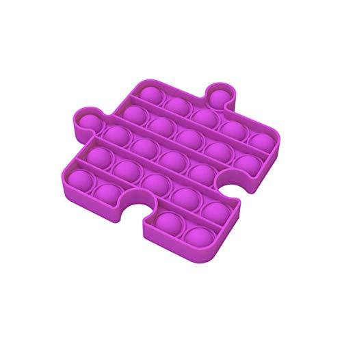 Push po p Bubble Sensory Round Fidget Toy,Juguete fidget de silicona para aliviar la ansiedad, juego de mesa, concentración interactiva, juguete educativo para niños y adultos
