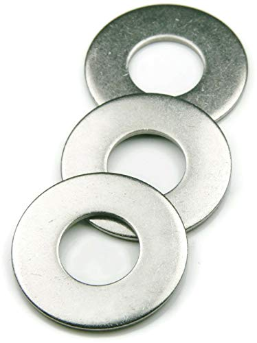 1/2' Flat Finish Washer, 304 Stainless (50 pcs) Choose Size, by ROSTEO