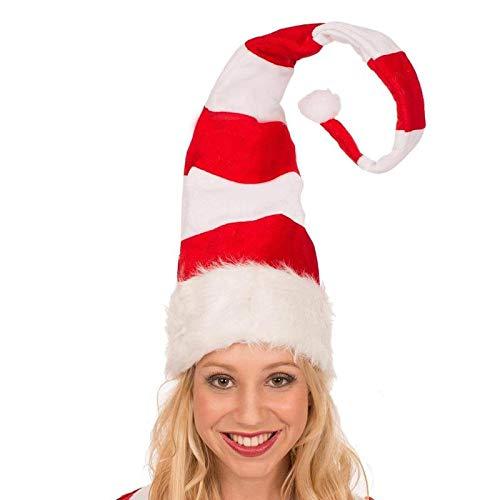 siqiwl Sombreros de Navidad largos a rayas de Navidad duende sombrero para el hogar, bar, Navidad, fiesta temtica, divertido fieltro de felpa, sombrero de elfo