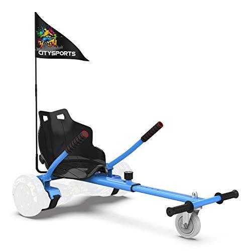 CITYSPORTS Hoverkart con Sedile, Go-Kart Regolabile per Hoverboard da 6.5'', 8'', 8.5'', 10''