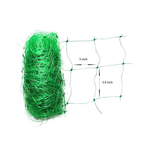 HHTHH Trellis Netting  Heavy Duty Garden Trellis Netting Polypropylene Plant Support Garden Net for Climbing Vegetables Fruit Flower 1 Pcs 5 x 100 FT