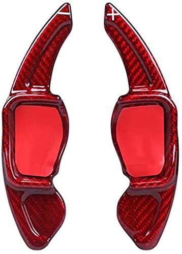 Paleta de Cambio de Volante de Fibra de Carbono JHZQK para VW Golf 6 CC Tiguan Touareg Lamando Scirocco Beetle Phideon Sharan-Red