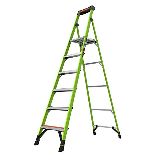 Little Giant Ladders, MightyLite, 8' Stepladder, Fiberglass, Type IA, 300 lbs weight rating, (15368-001)