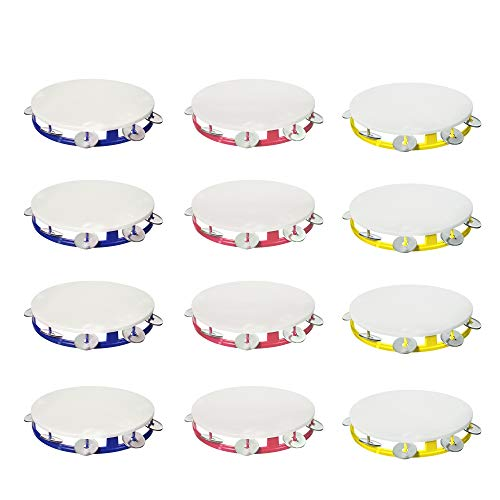 Windy City Novelties (12 Pack) Tambourines for Kids Party Favors (Tambourines with Bells)