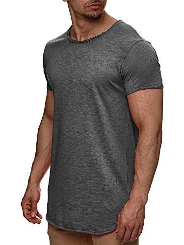 Indicode Herren Willbur Tee T-Shirt mit Rundhals-Ausschnitt aus 100% Baumwolle | Regular Fit Kurzarm Shirt einfarbig od. Kontrast Markenshirt in 30 Farben S-3XL für Männer Iron M