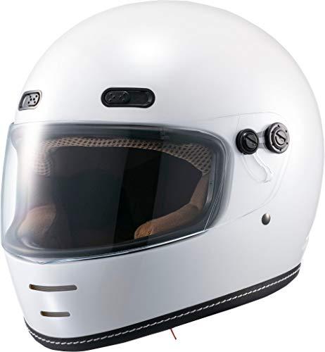 マルシン(MARUSHIN) バイクヘルメット ネオレトロ フルフェイス END MILL (エンド ミル) パールホワイト Mサイズ (57-58cm) MNF1 2001114