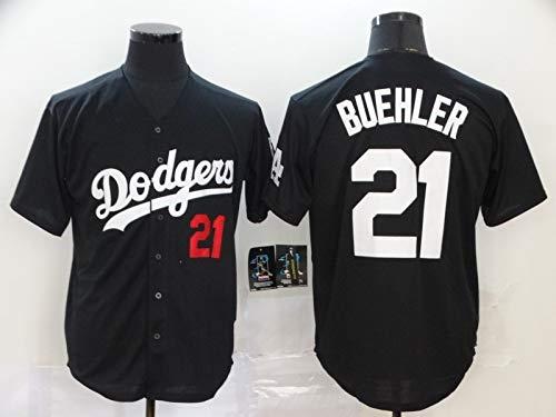 JMING Camiseta De Béisbol, Dodgers #35 Bellinger 50 Betts Uniforme De Béisbol para Hombres, Camiseta De Béisbol De élite Manga Corta para Uniforme Equipo con Botones Jersey (M,A4) ⭐
