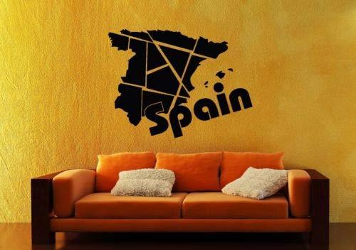 pegatinas de pared juveniles Adhesivos de pared Vinilo Calcomanía España Europa Viajes Mapa Geografía: Amazon.es: Bricolaje y herramientas