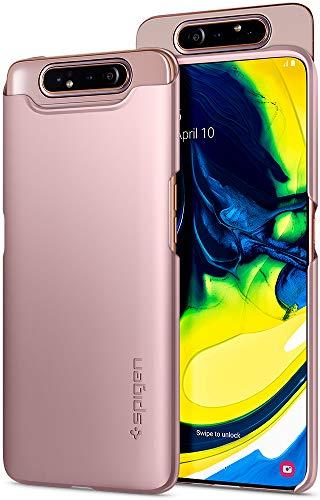 Spigen 621CS26418 Thin Fit Kompatibel mit Samsung Galaxy A80 Hülle, Slim PC Schale Hardcase Leicht Dünn Schutzhülle Handyhülle Case Angel Gold