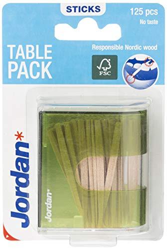 Jordan Dental Sticks - Zahnstocher aus Holz - im Tischdispender (125 Stück)